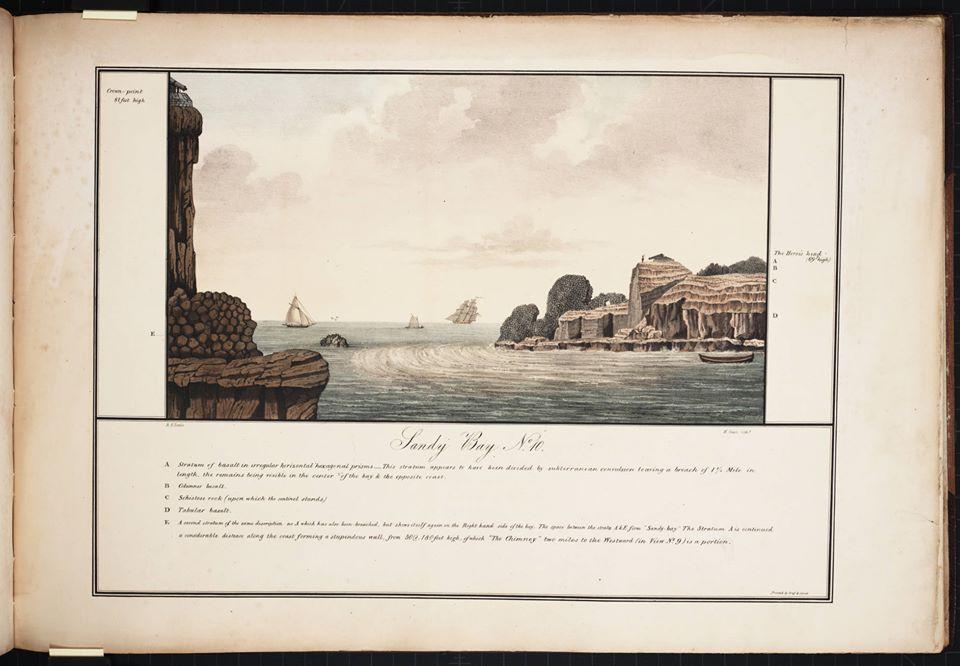 Vue de Sandy Bay en 1832 par Robert Seale