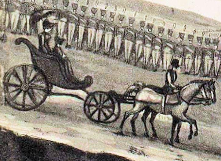 à la mort de Napoléon, ce phaéton était utilisé par Madame Bertrand.