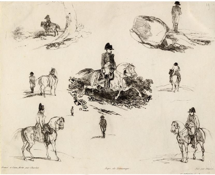 Napoléon à Sainte-Hélène, dessins de Charlet.
