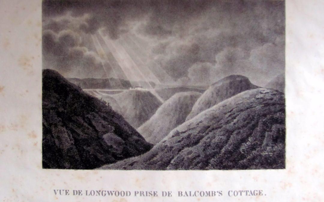 vue du plateau de Longwood depuis Warbro en 1816 par Marchand