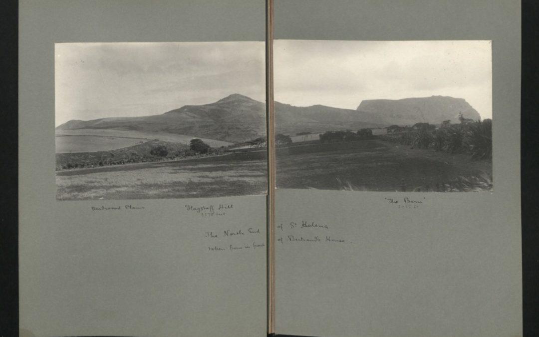 Vue depuis la maison Bertrand sur le plateau de Longwood en 1862