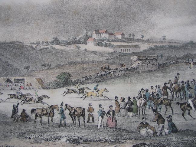 Courses de chevaux à Longwood par De Sainson