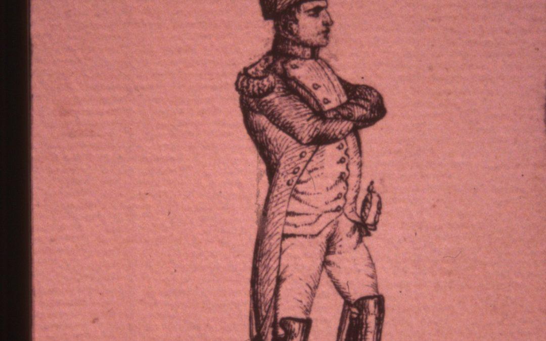 dessin représentant Napoléon présenté au musée d'Auxerre, Coll. Particulière.